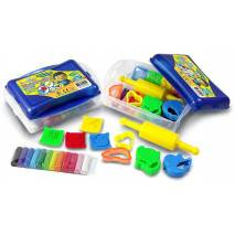 Modelovací hmota v kufříku 12 barev s vykrajovátky