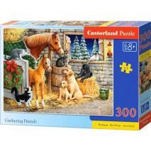 Puzzle 300 dílků - Setkání přátel ve stáji 30255