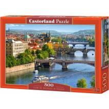 Puzzle 500 dílků - Výhled na mosty Prahy 53087