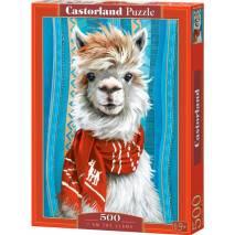 Puzzle 500 dílků - Lama s červenou šálou 53308