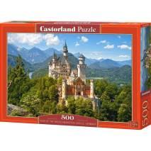 Puzzle 500 dílků - Výhled na Neuschwanstein, Německ 53544