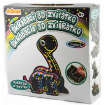 Škrabací 3D zvířátko - dino