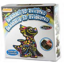 Škrabací 3D zvířátko - dráček