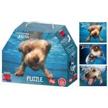 Puzzle 3D efekt - Pejsci ve vodě 3v1