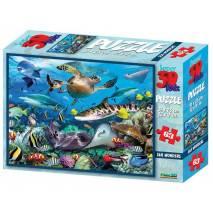 Puzzle 3D efekt - Mořský život 63 dílků