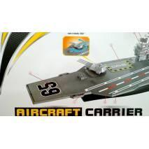 Letadlová loď s letadly a auty, délka 70cm