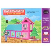 Magnetická stavebnice Magic Magnetic 40ks SWEETHOUSE