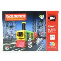 Magnetická stavebnice Magic Magnetic 24ks LOKO