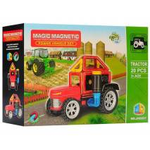 Magnetická stavebnice Magic Magnetic 20ks TRAKTOR