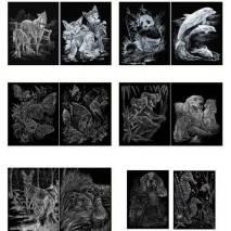 Škrabací obrázky v sešitu A5 - MAZLÍČCI