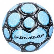 Míč fotbalový Dunlop šitý 22cm vel.5 - modro-černý