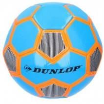 Míč fotbalový Dunlop šitý 22cm vel.5 - modro-oranžový