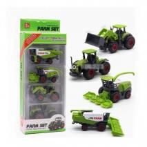 Zemědělské stroje Farm Set - mini model kov/plast 4ks