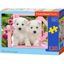 Puzzle 120 dílků - Štěňata bílého teriéra 13494