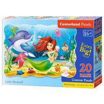 Puzzle maxi 20 dílků - Malá mořská víla 2290