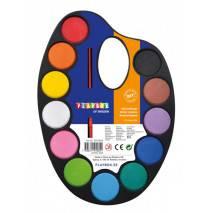 Playbox Vodové barvy na paletě + štětec
