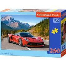 Puzzle 260 dílků - Červené auto v horách 27477