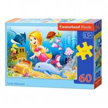 Puzzle 60 dílků - Malá mořská víla 6854