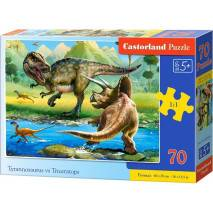 Puzzle 70 dílků MIDI - T-rex vs. Triceratops 70084