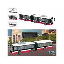 MaDe Autobus kloubový 44cm - mluví česky a svítí