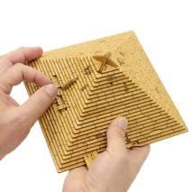 EscWelt Dřevěný hlavolam Quest Pyramide