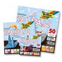 Papíry na skládání Origami JAPAN, 50 listů, 15x15cm, 80g