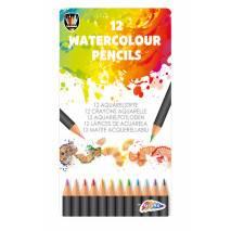 Akvarelové pastelky v kovovém boxu 12ks
