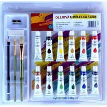 Olejové barvy - umělecká sada 12x12ml