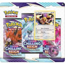 Pokémon TCG: Sword and Shield - Chilling Reign 3 Pack Blister - Eevee
