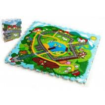 Pěnové puzzle Město Moje první zvířátka 30x30 9ks