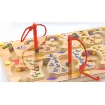 VIGA Dřevěný magnetický labyrint - čísla
