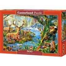 Puzzle 500 dílků - Život v lese 52929