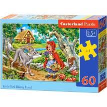 Puzzle 60 dílků - Červená Karkulka s vlkem 66117