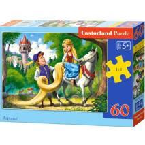 Puzzle 60 dílků - Locika na koni (Rapunzel) 66124