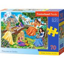 Puzzle 70 dílků premium - Princezny v parku 70022