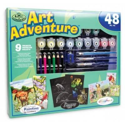 Art Adventure - velká sada tvoření - zelenomodrá