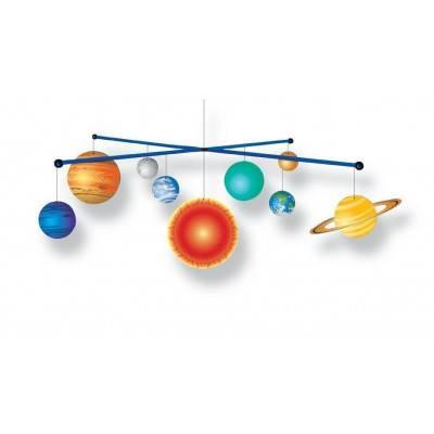 2D model sluneční soustavy na zavěšení - svítí ve tmě