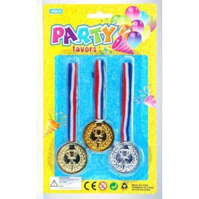 Dětské medaile 4cm 3ks PARTY