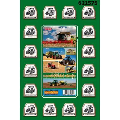 Pexeso 32 karet - motiv zemědělské stroje