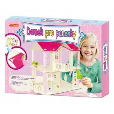 Domek pro panenky - stavebnice s obtisky