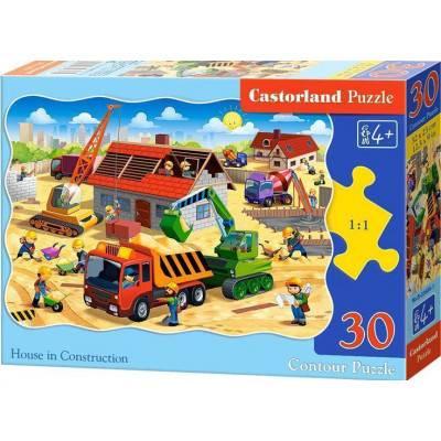Puzzle 30 dílků - Stavba domu 3686