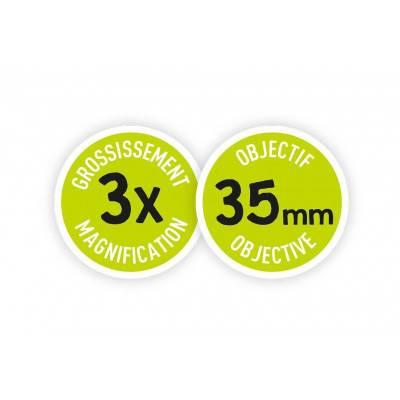 BUKI MiniScience Dalekohled Jumelles 3x35 zoom