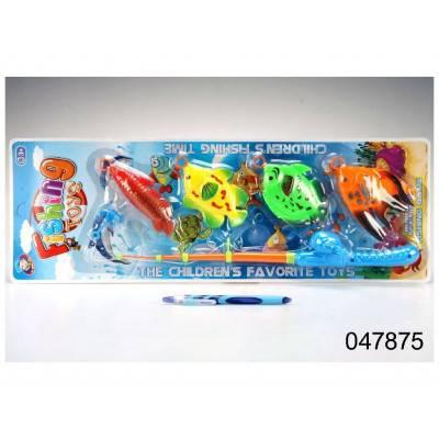 Rybolov - 4 ryby a prut s háčkem