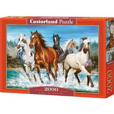 Puzzle 2000 dílků - Běžící koně 200702