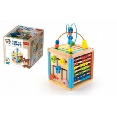 Dřevěná edukační kostka Wooden Toys