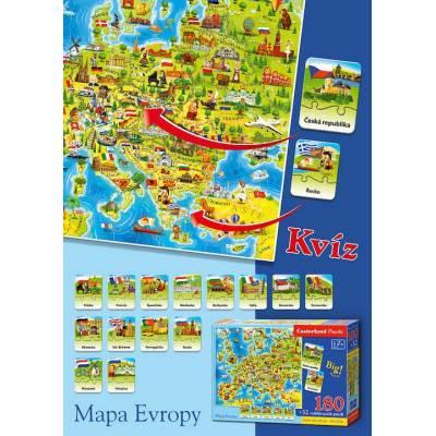 Puzzle 180 dílků - Mapa Evropy E-265
