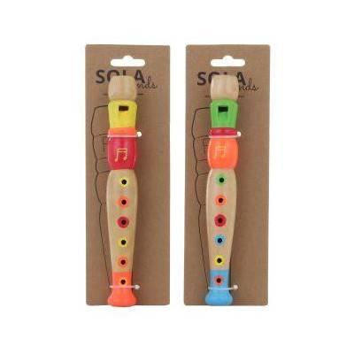 Flétna - dřevěná barevná
