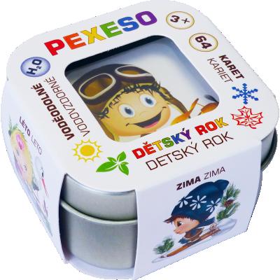 Pexeso voděodolné Dětský rok - v plechu