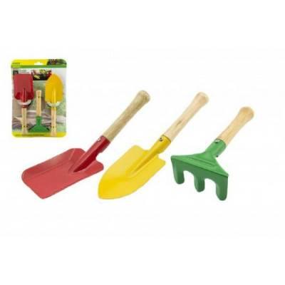 Sada zahradního nářadí pro děti kov/dřevo