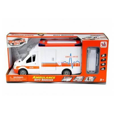 Záchranářská dodávka s nosítky, zvuky a světlo